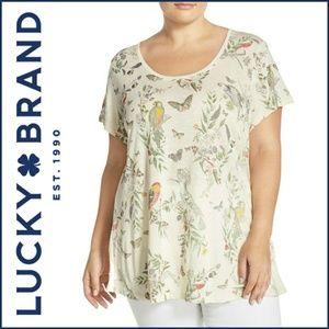 Lucky Brand Plus Size Parrot Short Sleve Tshirt